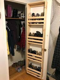 shoe storage door shoe storage for small closets best vertical shoe rack ideas on wood shoe