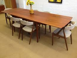 Enchanting Mid Century Modern Dining Room Table And Chairs Large At Danish  ...