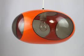 Original 70er Jahre Ufo Lampe Luigi Colani Orange