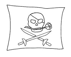 Bandiera Dei Pirati Da Stampare E Colorare Per Bambini Disegni Da