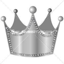 クラウン 王冠 ダイヤモンド 銀の写真イラスト素材 Xf3115081455