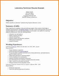 Resume Lab Technician Sample Unusual Medical Of Pharmacy Free Exampl