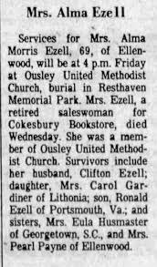 Obituary for Alma Morris Ezell (Aged 69) - Newspapers.com