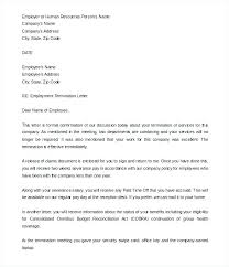 At Will Employee Termination Letter Termination Letter Dear Ms