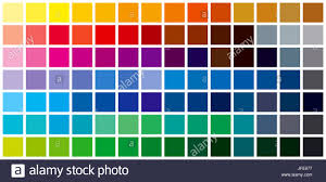 Colour Formation Chart Color Chart Stock Photos Color Chart Stock Images Alamy