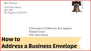New Addressing A Business Letter Envelope Npfg Online