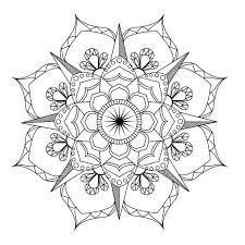 Flower Mandala Coloring Pages Surprising Flower Mandala Coloring