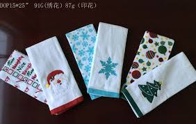 1pc printing and 1pc embroidery kitchen towel 15 25 minimum order 5000set this kitchen towel features 100 cotton 2pcs set 24pcs in a display box