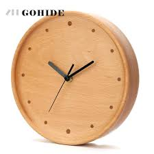 wooden wall clock new arrival simple design circular wooden wall clock on wall quartz wall clock