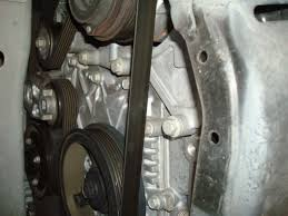gmc acadia forum how to replace the serpentine belt use the flashlight and take a look at the routing of the belt it will make it easier when you put it back on