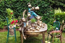 alice in wonderland garden background of garden design landscaping in park with fountain on theme of alice in wonderland garden