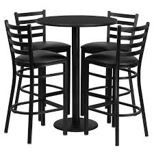 black iron furniture. Amazon.com: Flash Furniture 30\u0027\u0027 Round Black Laminate Table Set With 4 Ladder Back Metal Barstools - Vinyl Seat: Kitchen \u0026 Dining Iron