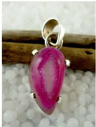 images gallery arienbixi 925 sterling silver with pink druzy quartz gemstone pendant