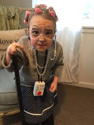 old lady makeup and costume 100th day of makeup