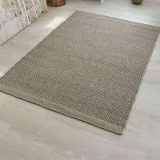 enzo felted wool rug light grey