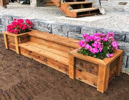 outdoor planter steps or benches ana