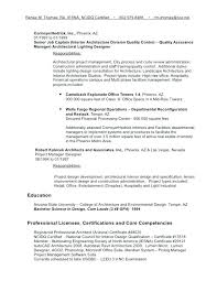 Architectural Project Manager Job Description Project Manager Resume