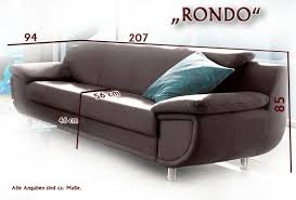 3 Sitzer Rondo In Softlux Kunstleder Braun Eur 29900