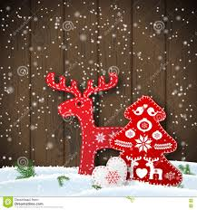 Christmas Decorations For The Wall Christmas Motive In Scandinavian Style Red And White Folk