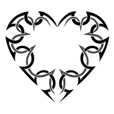 эскиз трайбл татуировки Tribal сердце татуировку рф фото и