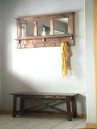 Coat Rack Bench With Mirror Delectable Mirror Coat Rack Pallet Mirrored Coat Rack Mirror Coat Rack Bench