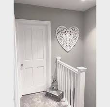 white wooden heart panel extra large
