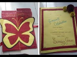 Invitation Cards For Farewell Party Diy Farewell Party Invitation Card Beautiful Hand Made Card Youtube