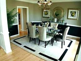 rug size for round dining room table proper