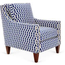 blue and white chair. Colleen Club Chair, Navy/White, Chairs Blue And White Chair I