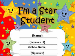 Star Student Chart Student Of The Week Certificate 2 Student Of The Week