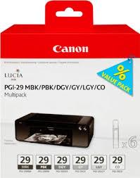 <b>Набор картриджей Canon PGI-29</b> MBK/PBK/DGY/GY/LGY/CO Multi ...