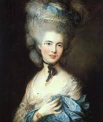 painted faces cosmetics in the th century dance s historical gainsborough portrait of a lady in blue 1777 79