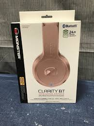 Designer Wireless Headphones Monster Clarity Bt Designer Series Rose Gold