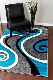 0327 turquoise white gray black 5 2x7 2 area rug abstract carpet within and ideas 0