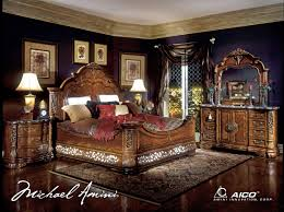 Mansion Bedroom Furniture Aico Excelsior 4pc Queen Size Mansion Bedroom Set For 663400 In
