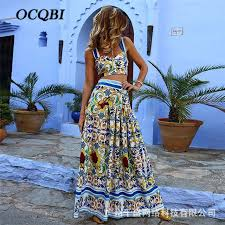 <b>2019</b> Women Summer Long Dress Bohemian Print <b>Sexy</b> Elegant ...