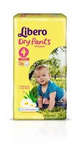 <b>Подгузники</b>-<b>трусики Libero Dry</b> Pants Size 4 (7-11кг), 34 шт ...