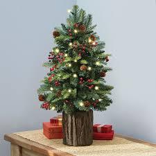 Holly Lights Snow Tabletop Ceramic Christmas Tree Green Base 18 Ceramic Tabletop Christmas Tree With Lights