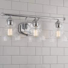 beautiful bathroom lighting. modern ridged shade bath light 3 beautiful bathroom lighting
