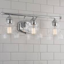 modern ridged shade bath light 3 light
