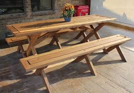 DIY Picnic Table - Benches