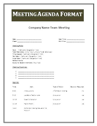 Professional Meeting Agenda Template Best Format Formats For ...