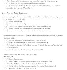 Important questions class 10Science Periodic Classification of ...