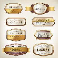 Label Design Free Gold Label Design Design Vector Free Vector Download Free