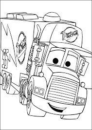 Mack Coloring Page From Disney Cars
