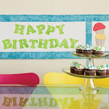 Birthday Treats Table Runner Pattern (PQ10315)