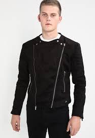 sixth june regular perfecto faux leather jacket black zalando co uk