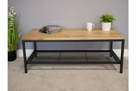 black powder coated steel frame shelf