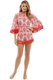 Young Hearts Run Free Playsuit Red
