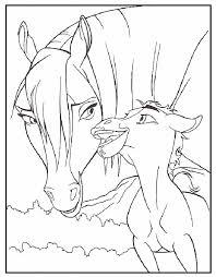 Paard En Veulen Kleurplaat Kleurplaat Horse Coloring Pages